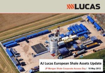 AJ Lucas European Shale Assets Update