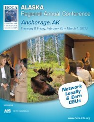 AlAskA Regional Annual Conference - Health Care Compliance ...