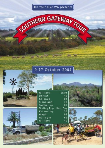 9-17 October 2004 - Cycle Touring Association of Western Australia