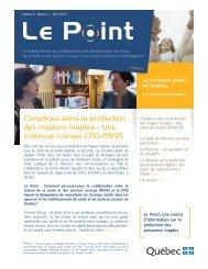 Le Point, vol. 9, n o 1, hiver 2010 - Le Curateur public du Québec