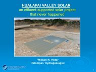 HUALAPAI VALLEY SOLAR an effluent-supported solar project that ...