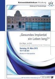 """Gesundes Implantat ein Leben lang?"" - BIOMET 3i"