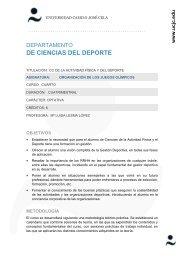 Organización de los Juegos Olímpicos - Universidad Camilo José ...