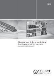 Komponentenübersicht Stecksystem - Metallregale-24