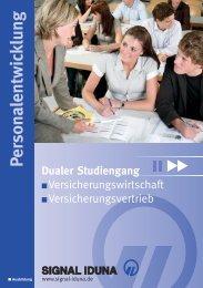 Dualer Studiengang - SIGNAL IDUNA Gruppe