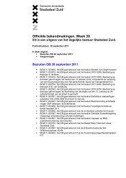 Officiële bekendmakingen 30 september 2011 - Stadsdeel Zuid ...