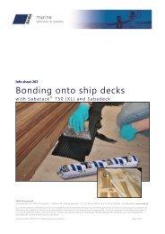 Verlijmen van teakhouten scheepsdekken met SABA Deckfast MS