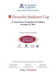 Sponsorship / Donation Information - University of Arizona