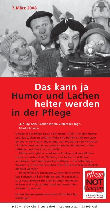 einladunghumor070308.. - AWO Pflege Schleswig-Holstein gGmbH
