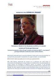 Donna M. Orange - Psicoterapia Relacional