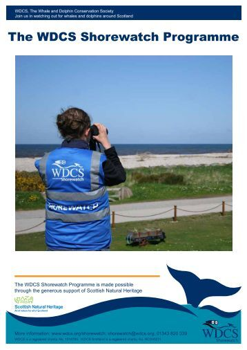 Shorewatch Overview - Whale and Dolphin Conservation Society