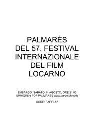 Pardi di Domani - Svizzera - Festival del film Locarno
