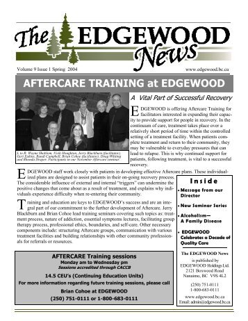 A Decade of Quality Care - EDGEWOOD Addiction Treatment