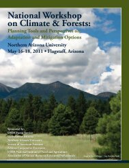 National Workshop on Climate & Forests: - Society of American ...