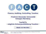 b) Überblick über die FACT-Module - Lehrstuhl für ...