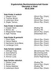 Ergebnisliste Bezirksmeisterschaft 2009