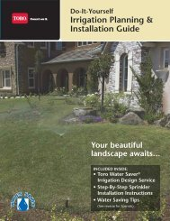 Irrigation Planning & Installation Guide - SPRINKLER TALK