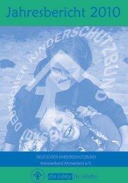 """""""Hilfen unter einem Dach"""" Jahresbericht 2010 Geschäfts"""