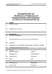 Richtlinie zur Förderung von nichtbetrieblichen F&E-Projekten