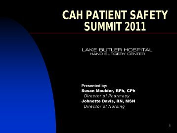Critical Access Hospital Patient Safety Summit - FMQAI