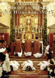 Dezember 2005 - Institut Christus König und Hoherpriester