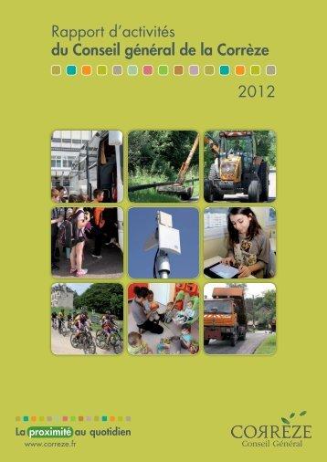 Rapport d'activités du Conseil général de la Corrèze 2012