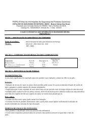 fispq/msds - Alarmes Tucano