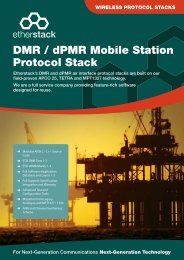 DMR / dPMR Mobile Station Protocol Stack - Etherstack