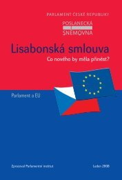 Co nového by měla přinést Lisabonská smlouva?
