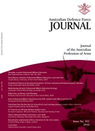 Issue No. 181 2010 - Australian Defence Force Journal