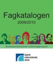 fagkatalogen 09-10.pdf - Videregående skoler