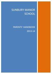 PARENT'S HANDBOOK 2011-12 - Sunbury Manor School