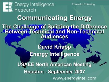 View Presentation - United States Association of Energy Economics