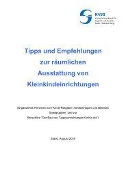 Tipps und Empfehlungen zur räumlichen Ausstattung von ...
