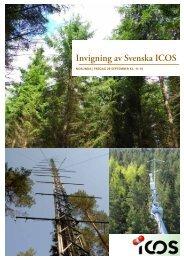 Invigning av Svenska ICOS - Humanekologi Lunds universitet