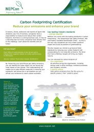 Carbon Footprinting Certification - NEPCon