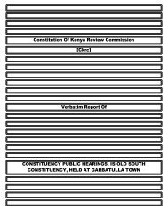 Constitution Of Kenya Review Commission [Ckrc ... - ConstitutionNet