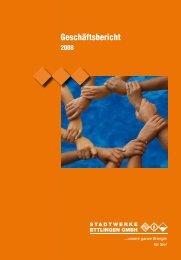 Geschäftsbericht 2008 - Stadtwerke Ettlingen GmbH