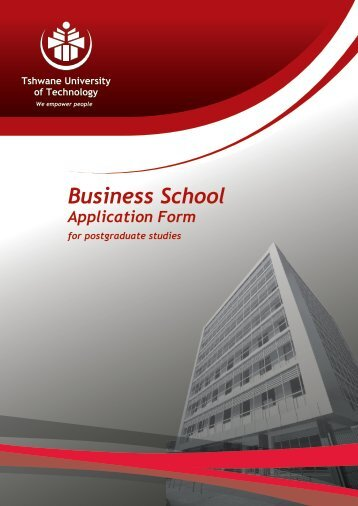 BS Application web 2013.pdf - Tshwane University of Technology
