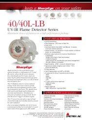 40/40L-LB UV/IR Flame Detector Series - Spectrex Inc.