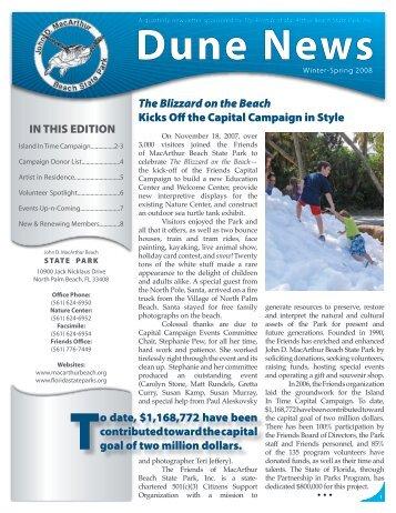 News MacBeach Q1Y08.indd - John D. MacArthur Beach State Park