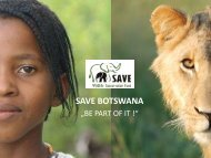 save botswana - SAVE Wildlife Conservation Fund