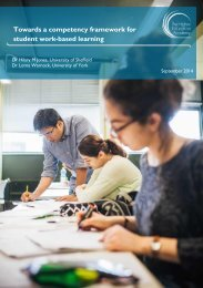 Towards a competency framework for student work-based learning