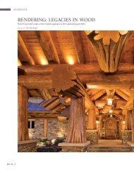 RendeRing: LegAcies in Wood - Pioneer Log Homes Midwest