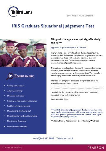 IRIS Graduate Situational Judgement Test - TalentLens
