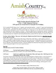 Quilts Gardens along the Heritage Trail 4 Day / 3 ... - Amish Country