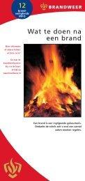 12 Wat te doen na een brand - Brandweer