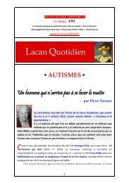 LQ 191 - Lacan Quotidien