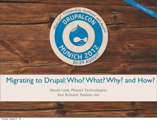 Migrating to Drupal - DrupalCon Munich 2012