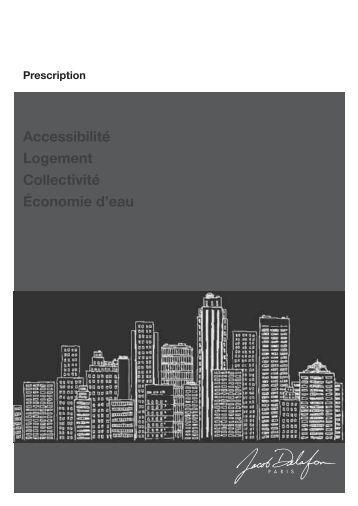 Accessibilité Logement Collectivité Économie d'eau - Jacob Delafon